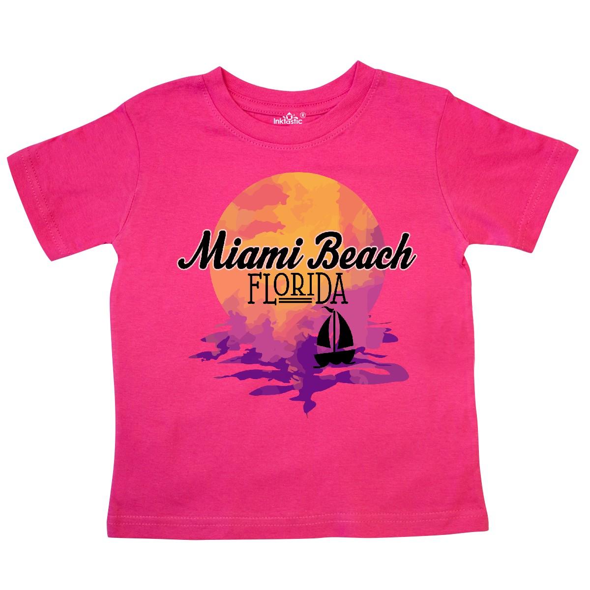 Details About Inktastic Miami Beach Florida Vacation Sunset Toddler T Shirt Souvenir Travel