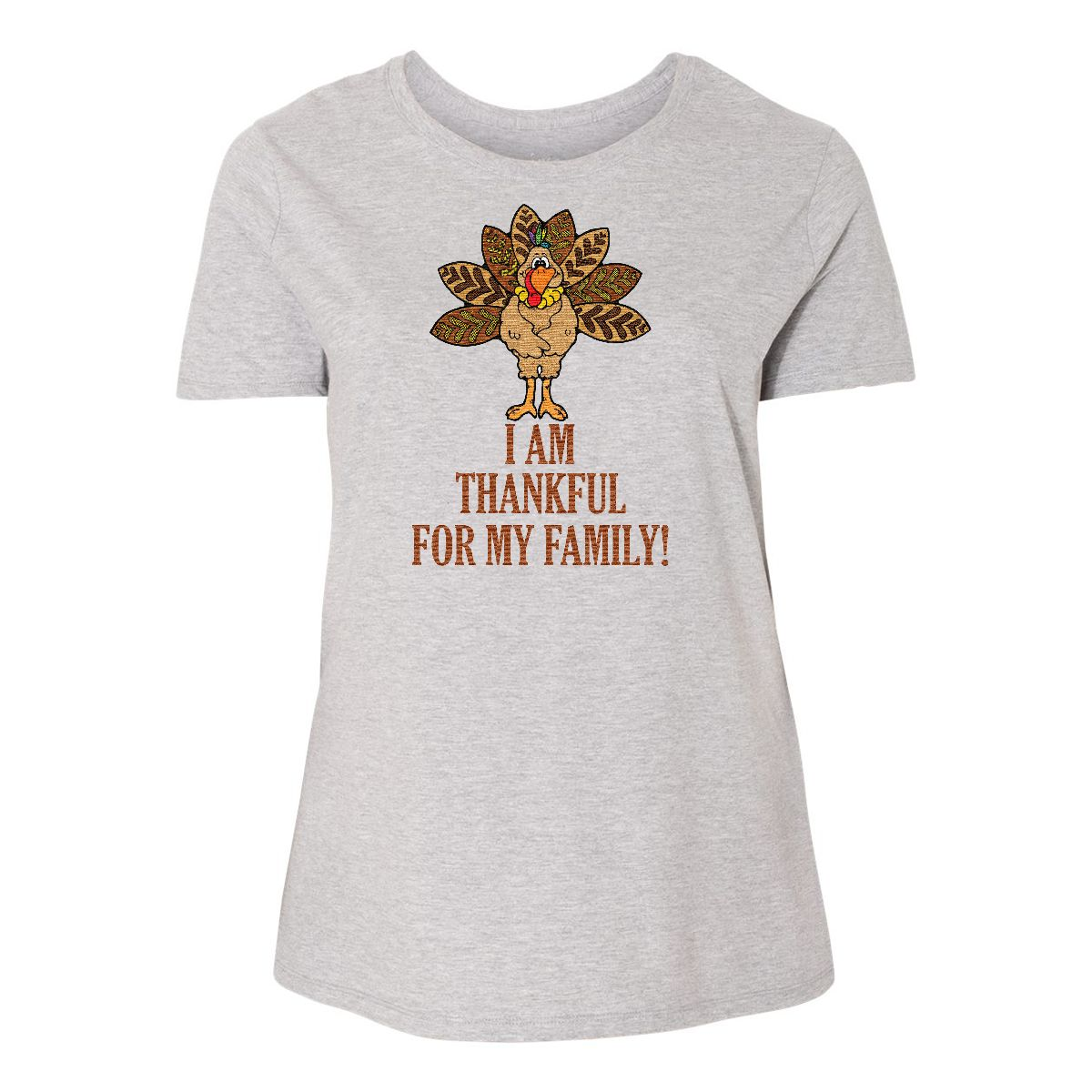 bd3a53bde Inktastic Turkey Thankful Women's Plus Size T-Shirt Thanksgiving ...