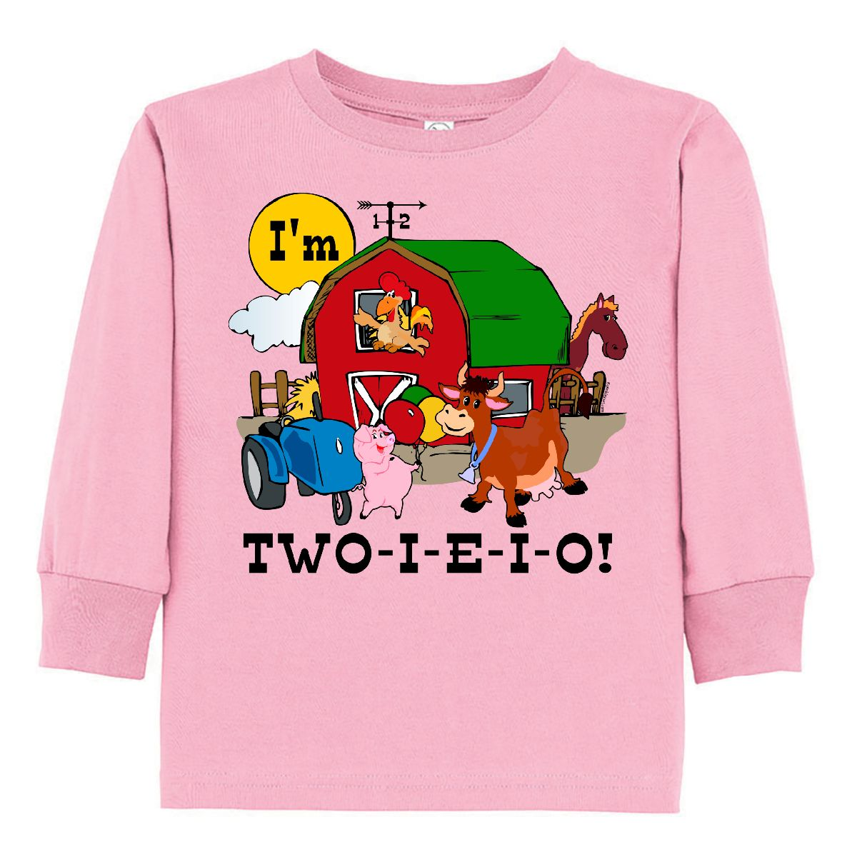 Inktastic TWO I E O Toddler Long Sleeve T Shirt