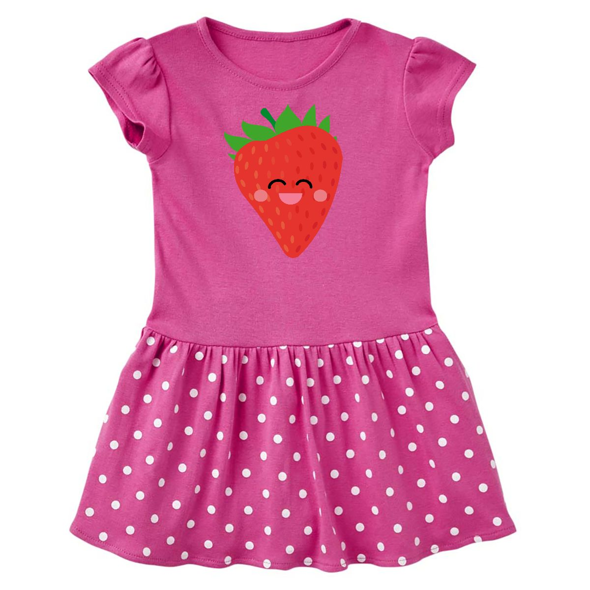 inktastic Cute Bear Eating Strawberries Baby T-Shirt