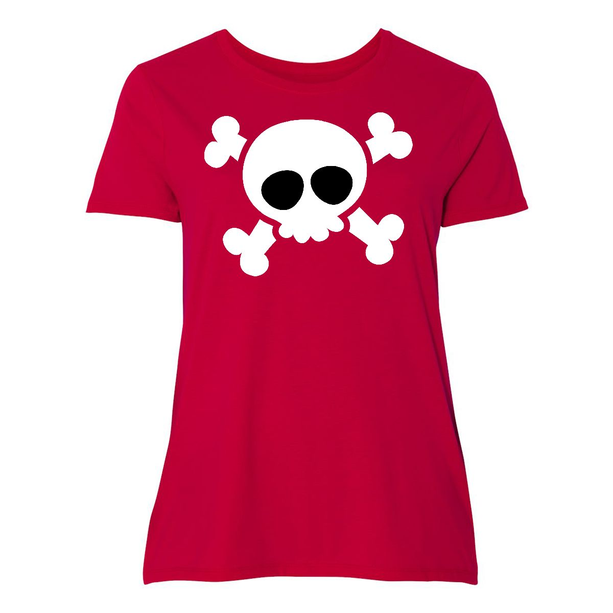 3e0565c58 Inktastic Skull Design Women's Plus Size T-Shirt Halloween Holiday ...