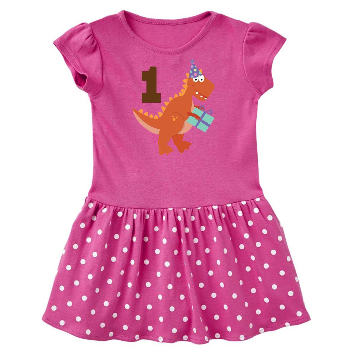 Inktastic 1st Birthday Dinosaur Party Infant Dress First Kids Babys ...