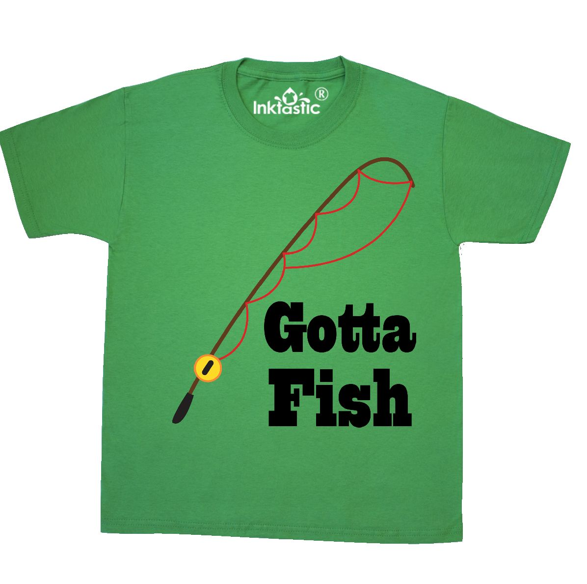 260c8cc0 Inktastic Fishing Gotta Fish Youth T-Shirt Pole Fisherman Sports ...