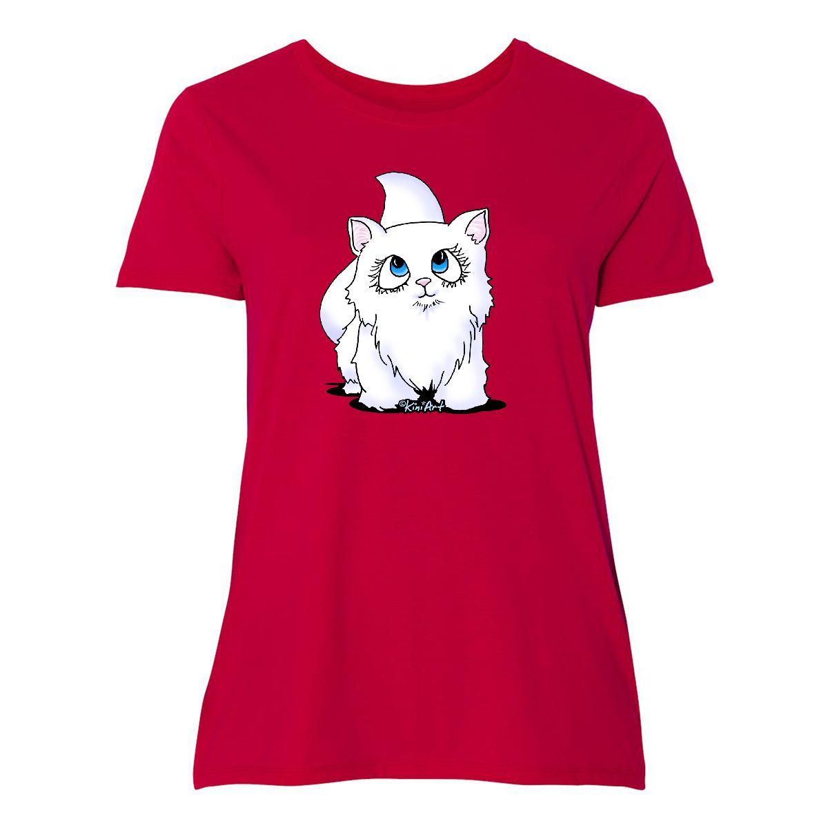 Inktastic bluee Eyed Cutie Cat Women's Plus Size T-Shirt - KiniArt Kitten Kitty