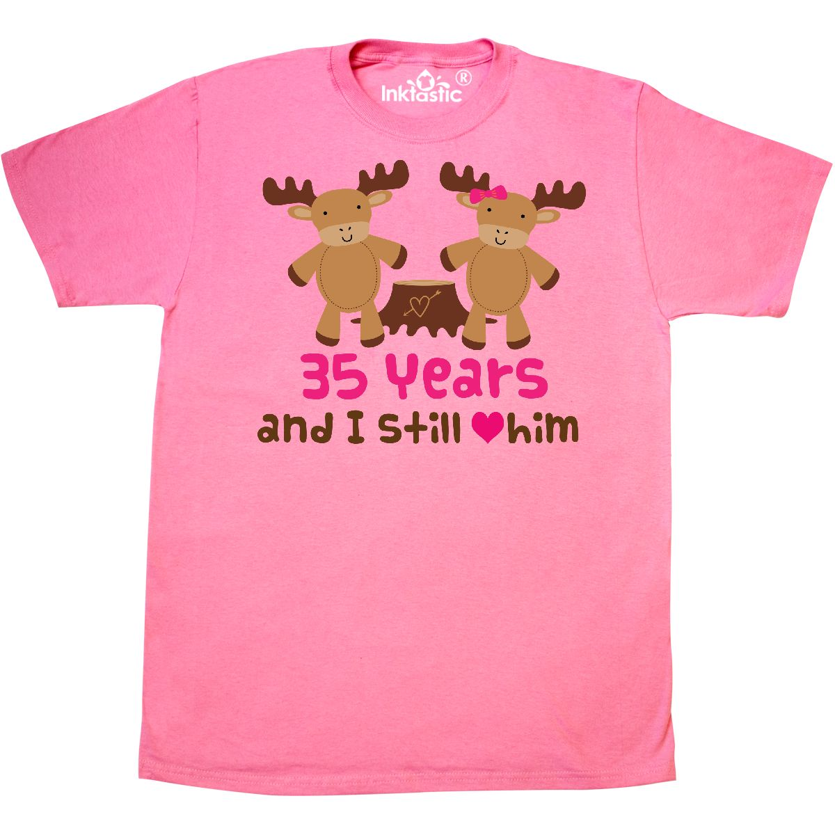 Wedding Anniversary 35 Years Gifts: Inktastic Gift For 35th Wedding Anniversary Moose T-Shirt