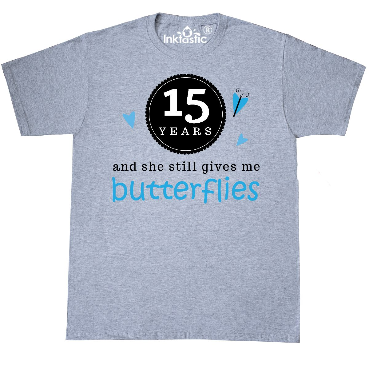 15th Wedding Anniversary Gift Ideas For Men: Inktastic 15th Anniversary Gift For Him T-Shirt Funny