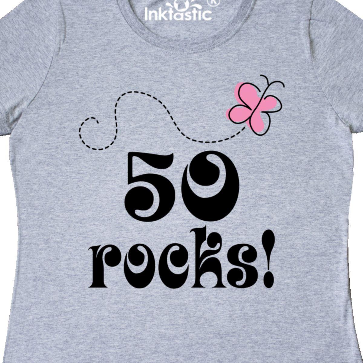 Inktastic 50th Birthday 50 Rocks Gift Women 039