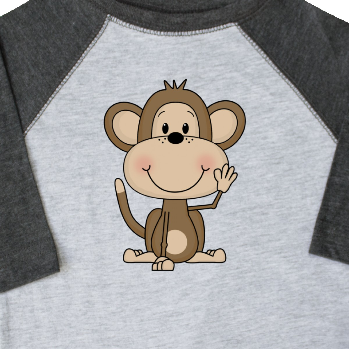 Inktastic-Monkey-Toddler-T-Shirt-Cute-Baby-Monkeys-Bananas-Giraffe-Acrobats-Of thumbnail 4
