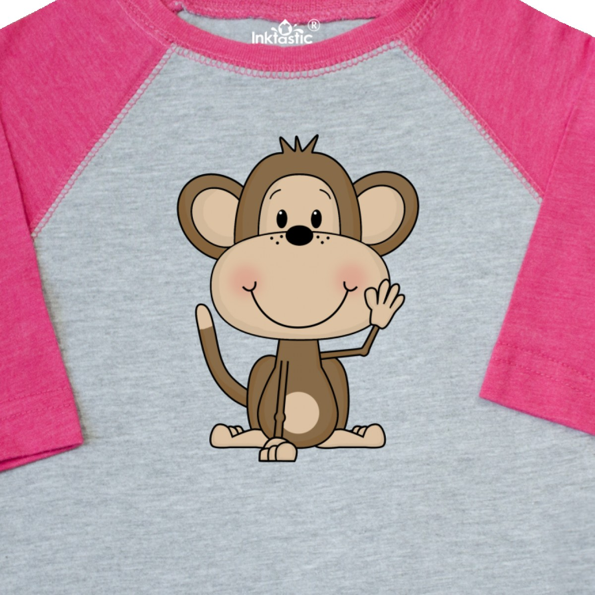 Inktastic-Monkey-Toddler-T-Shirt-Cute-Baby-Monkeys-Bananas-Giraffe-Acrobats-Of thumbnail 6