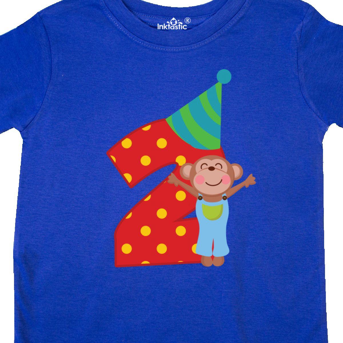 Inktastic 2nd Birthday Monkey Boys Toddler T Shirt