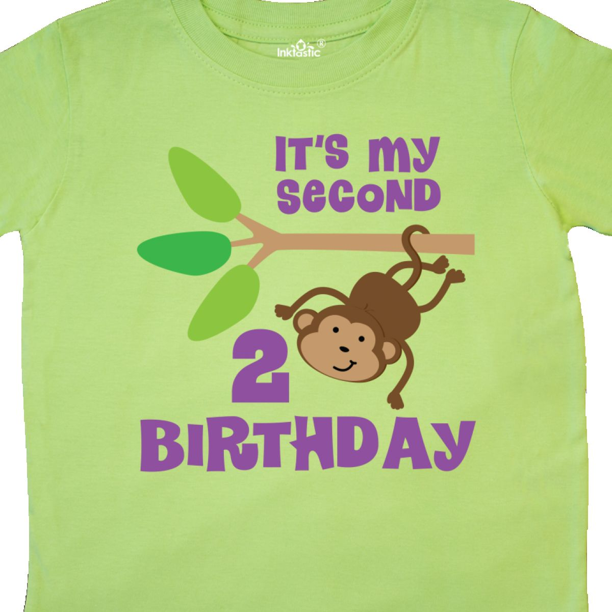 Inktastic 2nd Birthday Monkey Toddler T Shirt Second