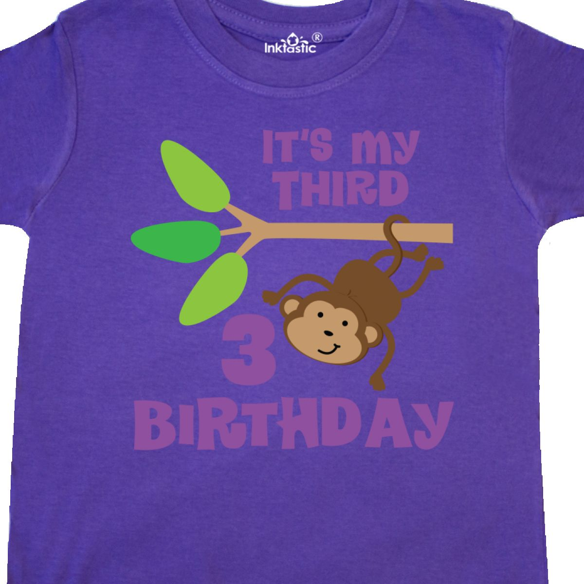Inktastic 3rd Birthday Monkey Toddler T Shirt Third