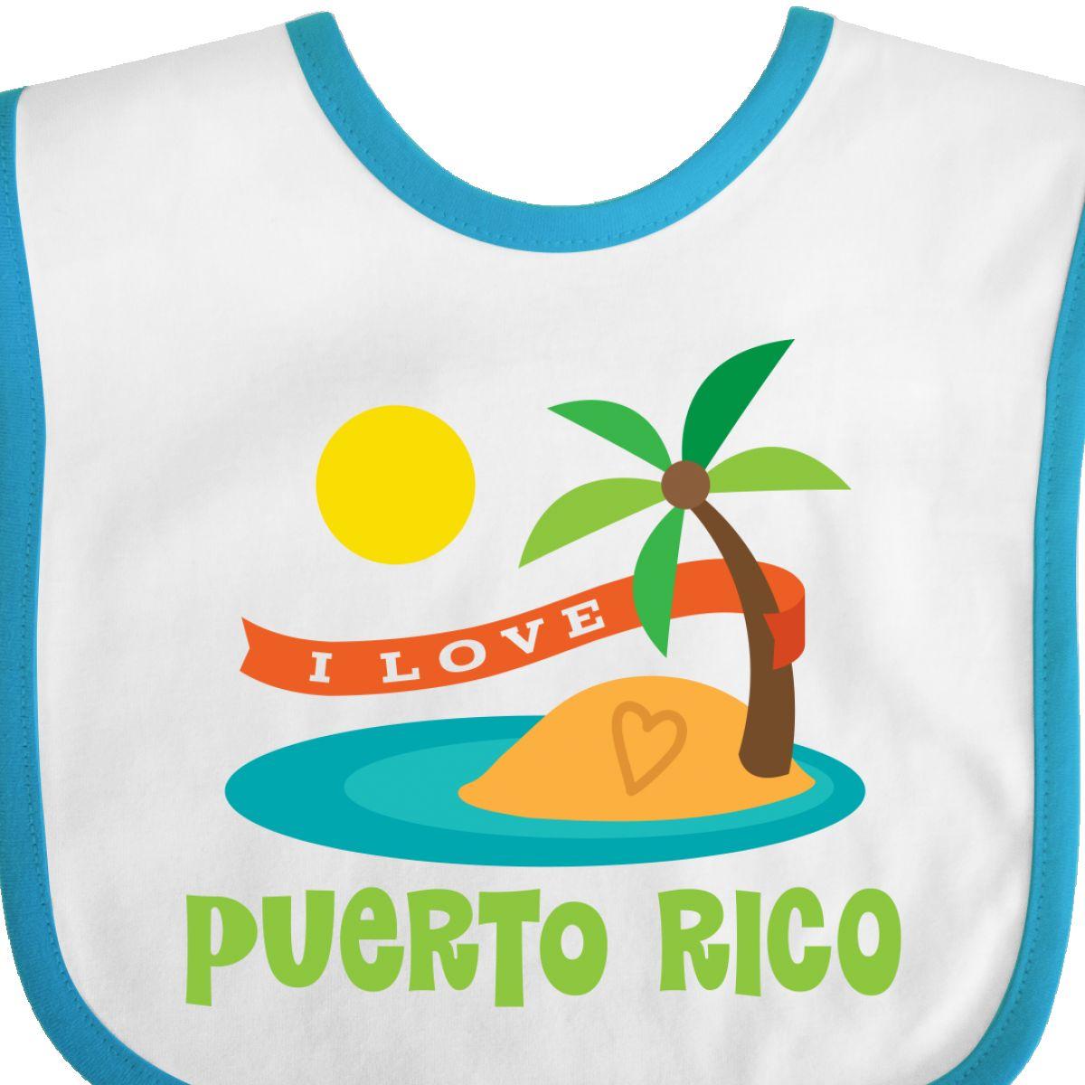 inktastic i love puerto rico baby bib country