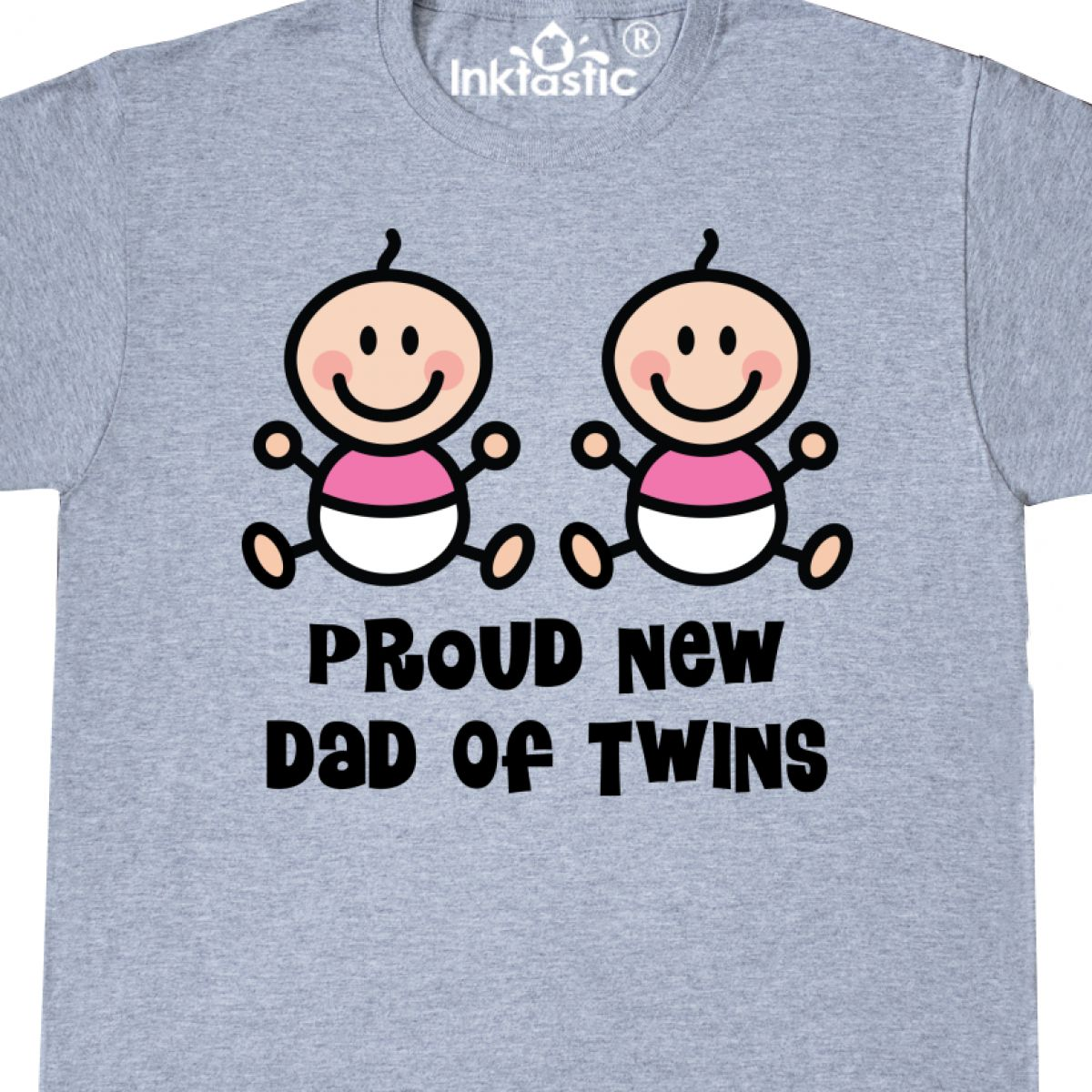 fe26a42b Inktastic Dad Of Twin Girls T-Shirt Twins Fathers Day New Having ...