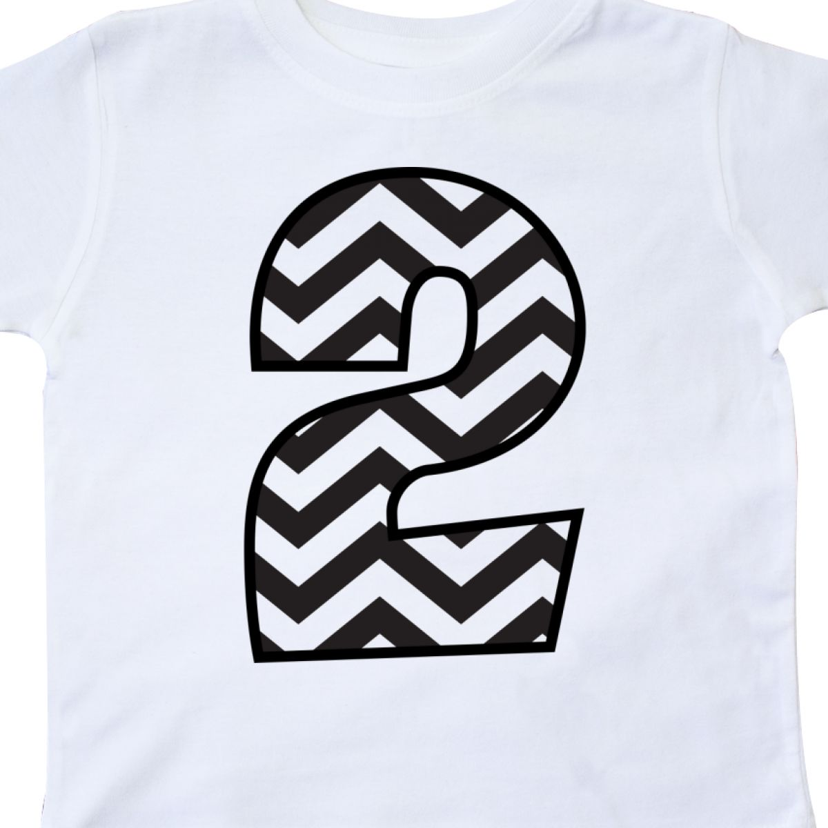 Inktastic 2nd Birthday Number Two Chevron Toddler T