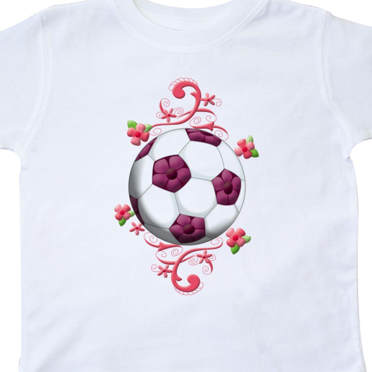 Inktastic Girl s Soccer Toddler T-Shirt Girl Futbol Goal Cleats Tees ... 361dcdd5b