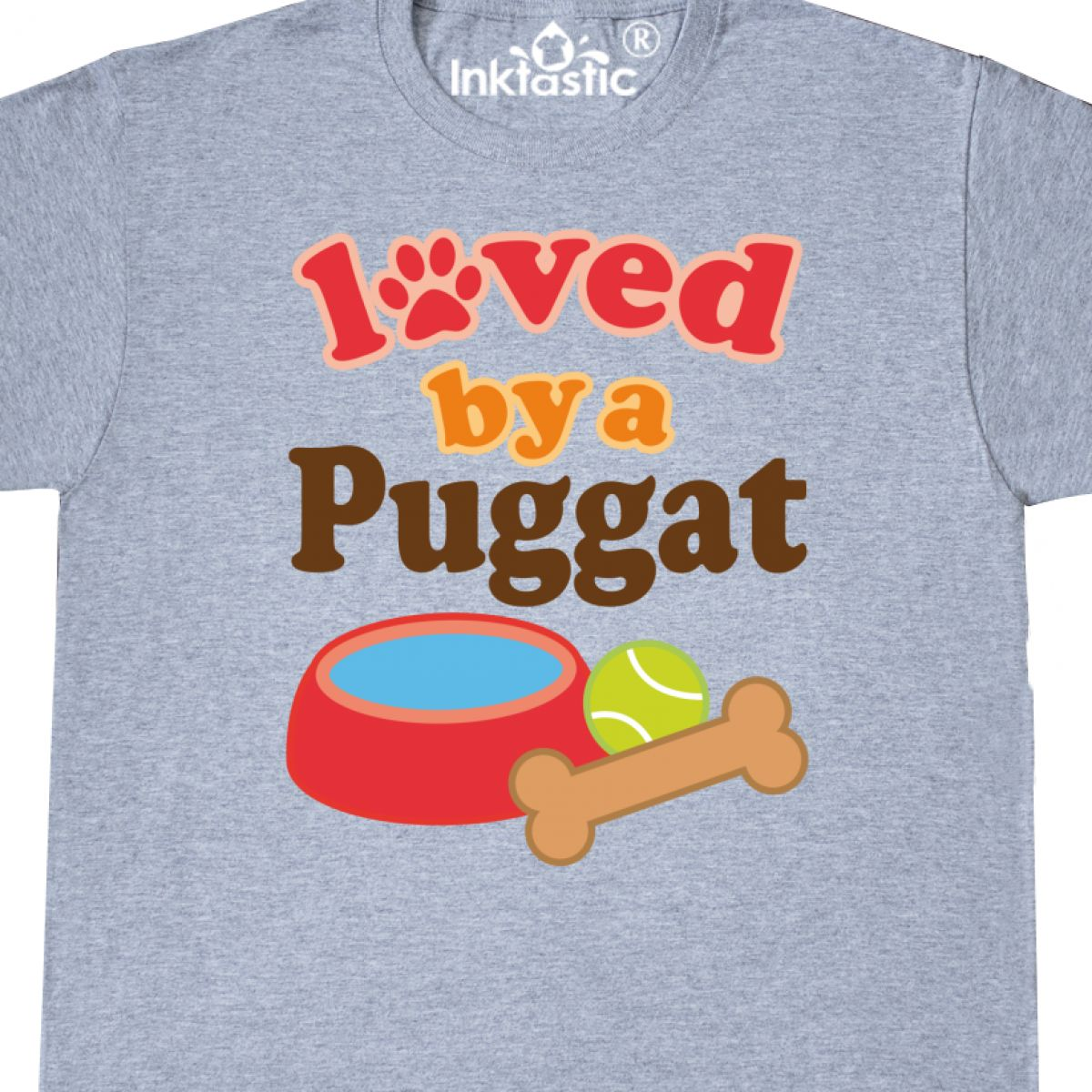 8764d3754 Inktastic Puggat Dog Lover T-Shirt Loved By Dogs Pets Owner Cute ...