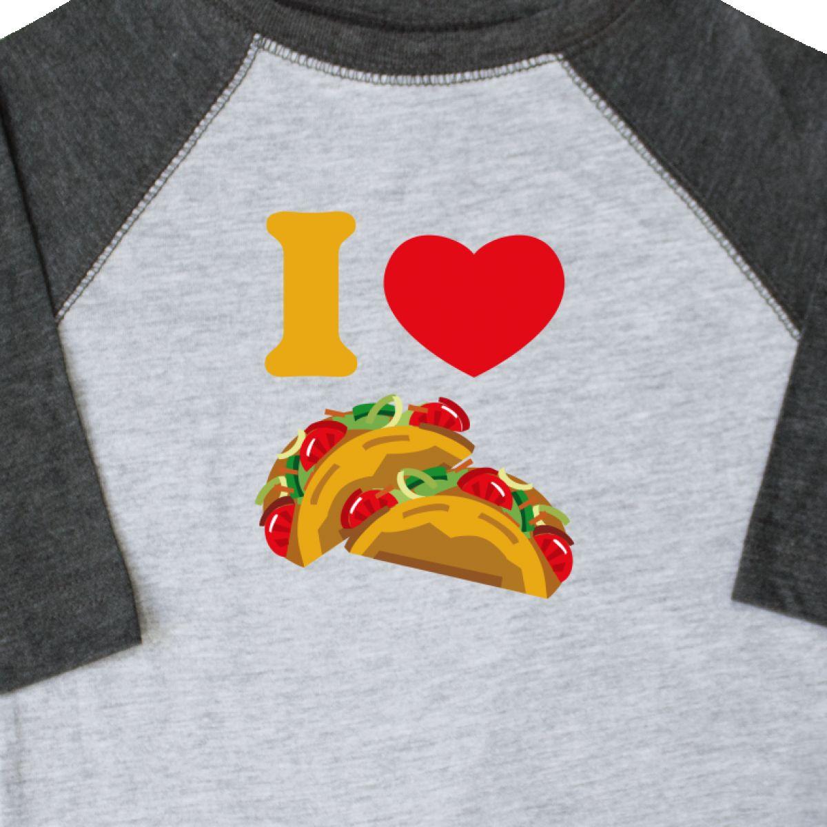 524d8b3f Inktastic I Love Tacos Toddler T-Shirt Heart Taco Mexican Food ...