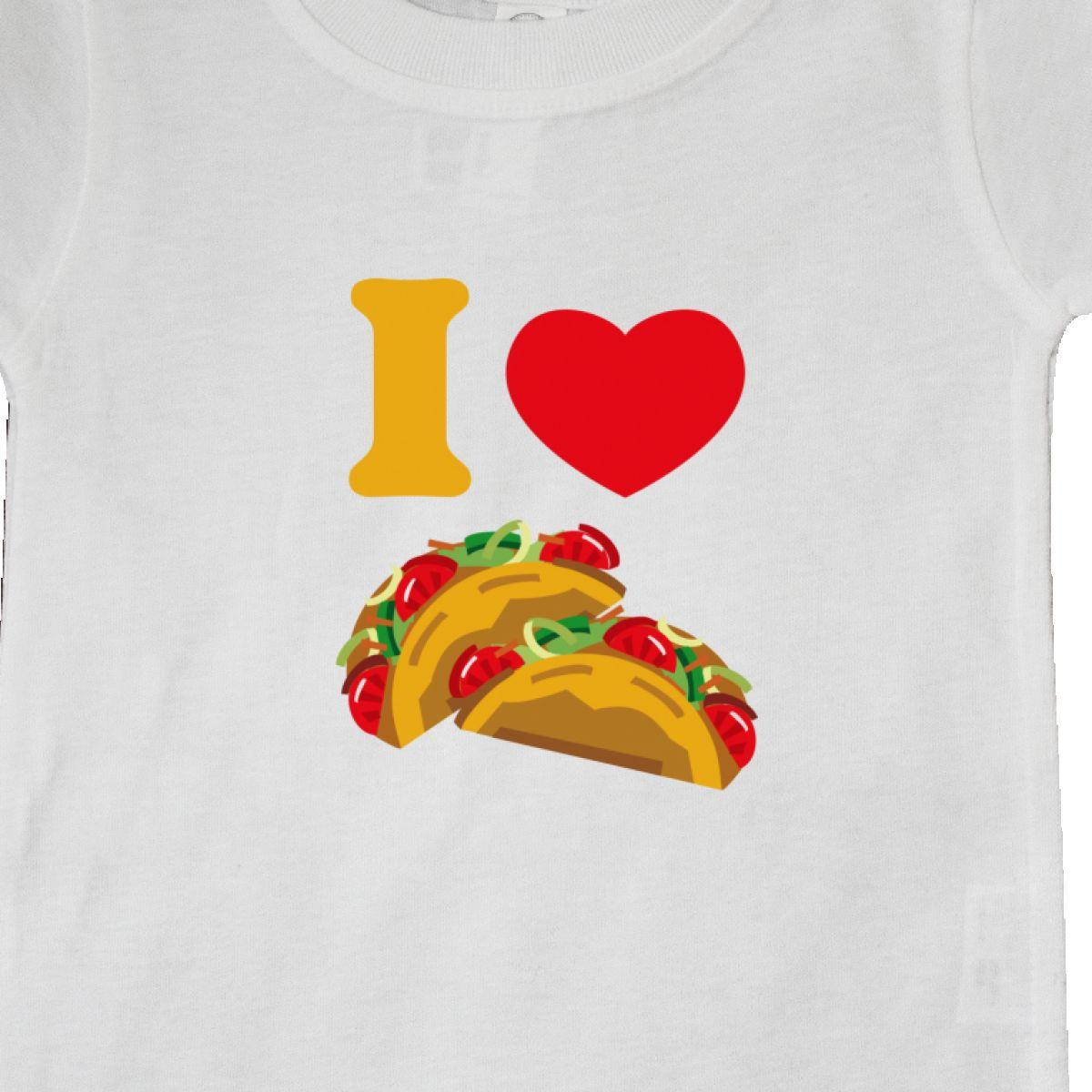 c4480bec Inktastic I Love Tacos Baby T-Shirt Heart Taco Mexican Food ...