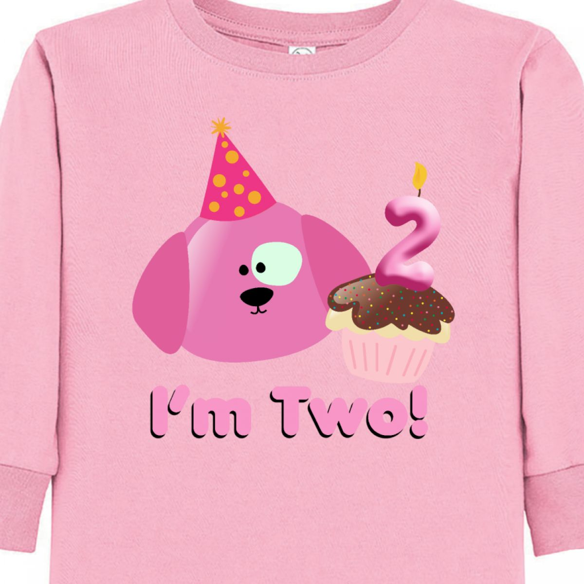 Inktastic 2nd Birthday Princess Crown Cute Girls Toddler Long Sleeve T Shirt Two