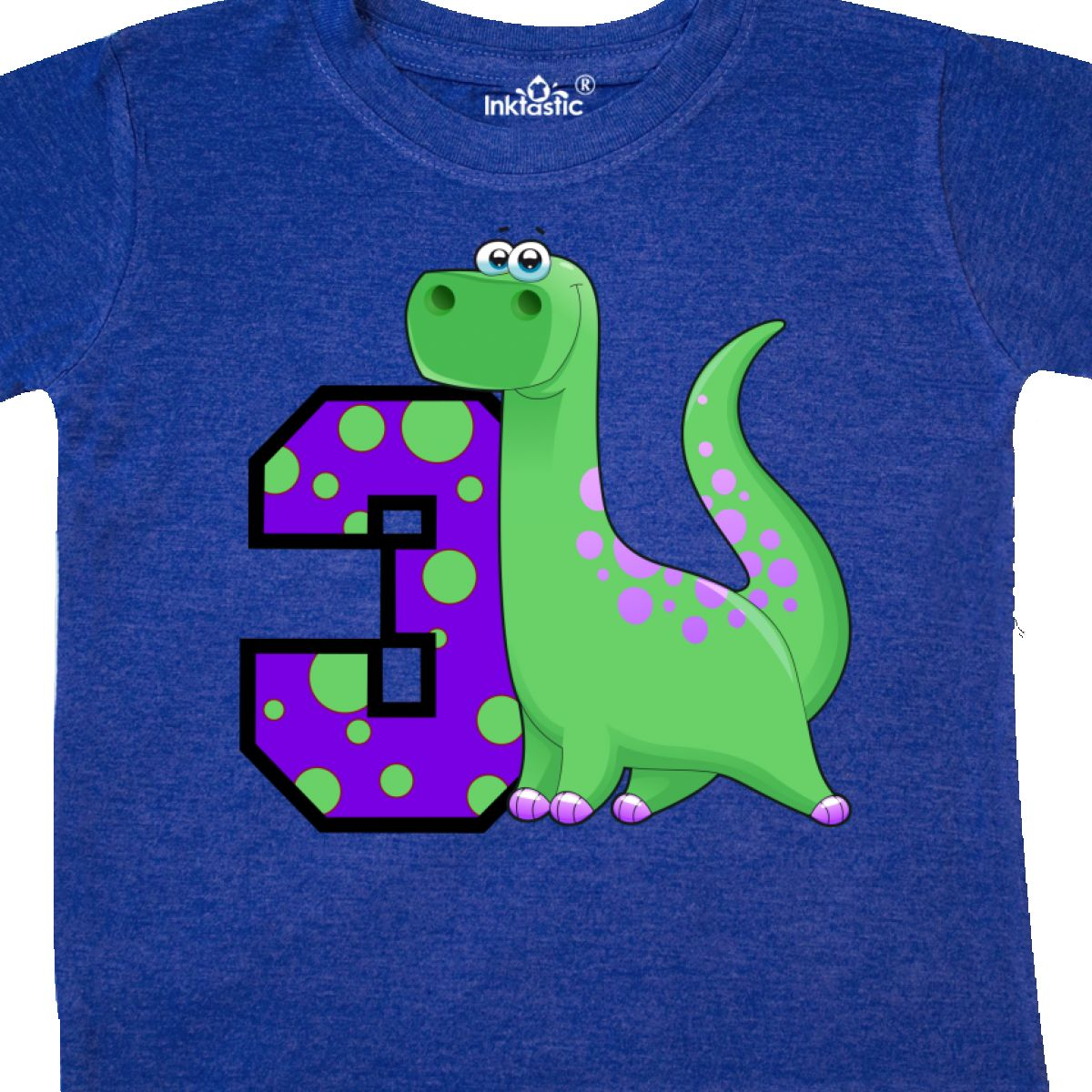 Inktastic Dinosaur 3rd Birthday Toddler T Shirt 3