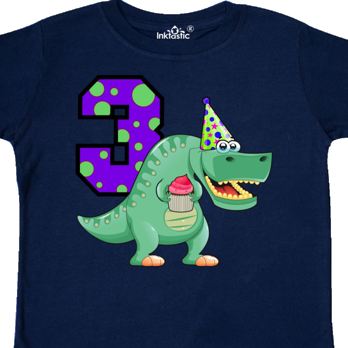 Inktastic 3rd Birthday T Rex Toddler Shirt