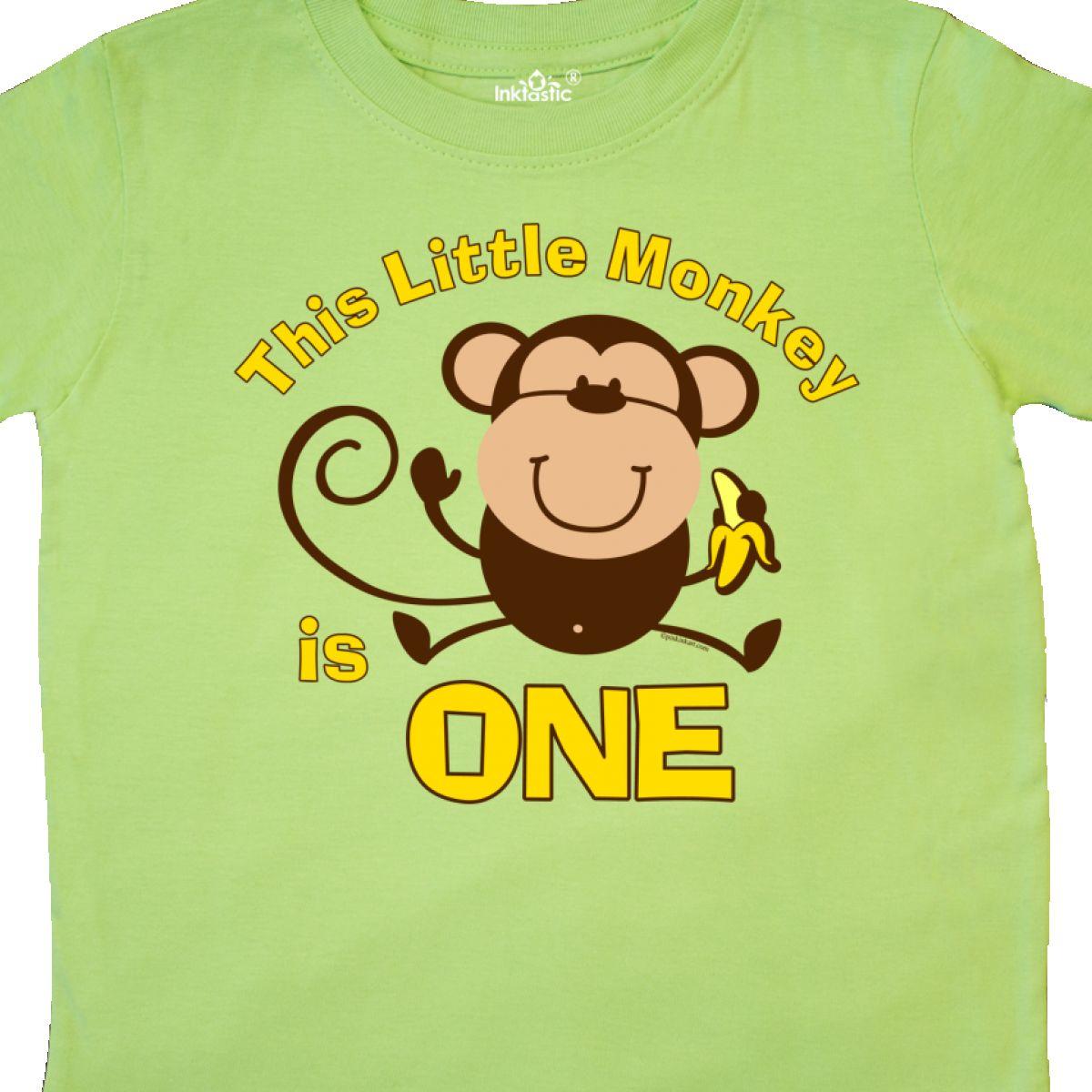 Inktastic Little Monkey 1st Birthday Boy Toddler T