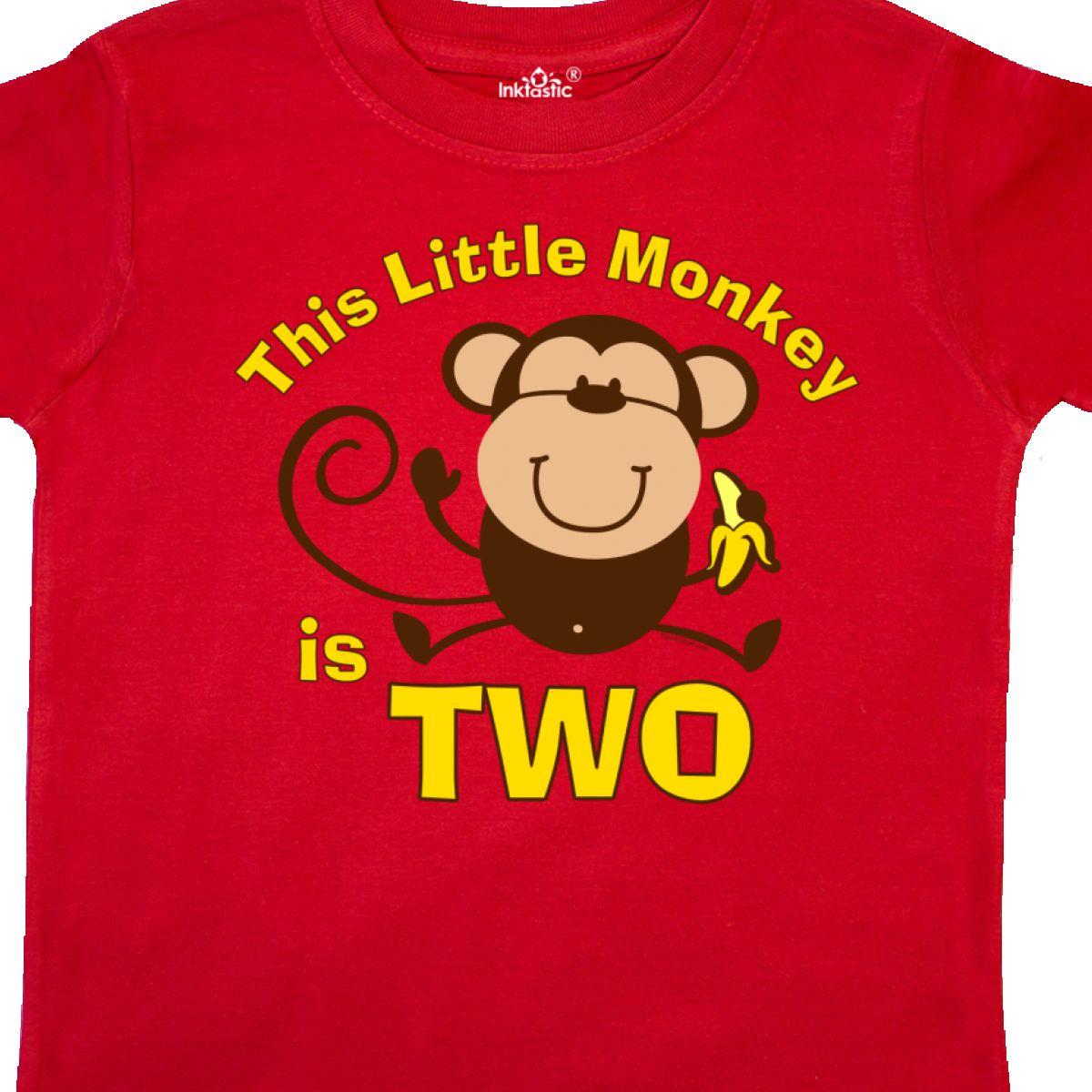 Inktastic Little Monkey 2nd Birthday Boy Toddler T
