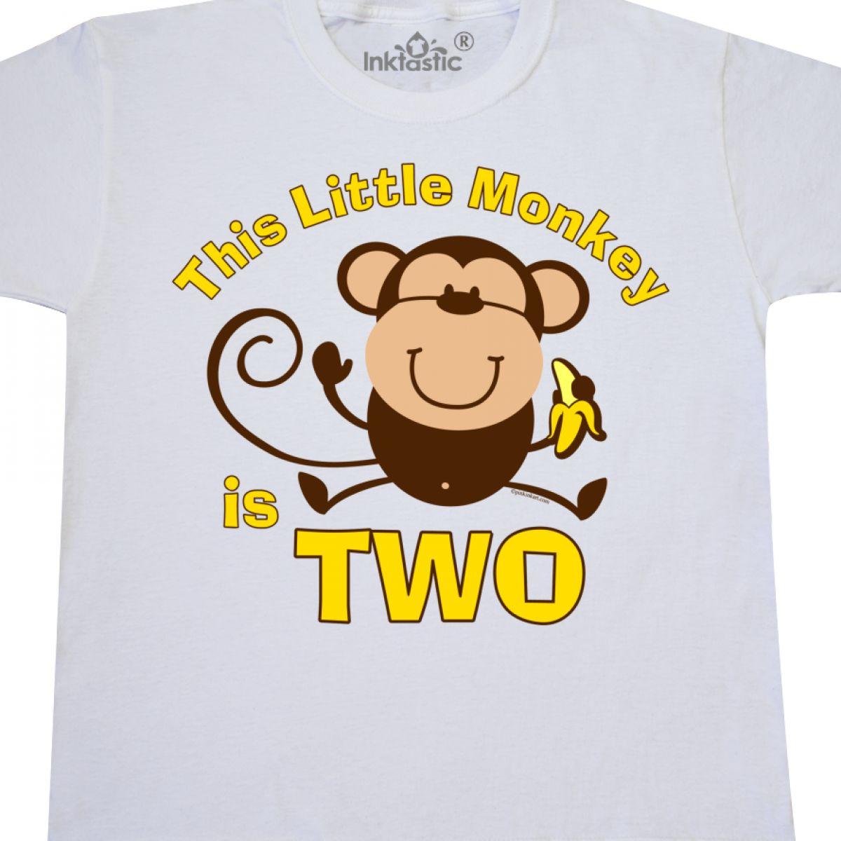 Inktastic Little Monkey 2nd Birthday Boy Youth T