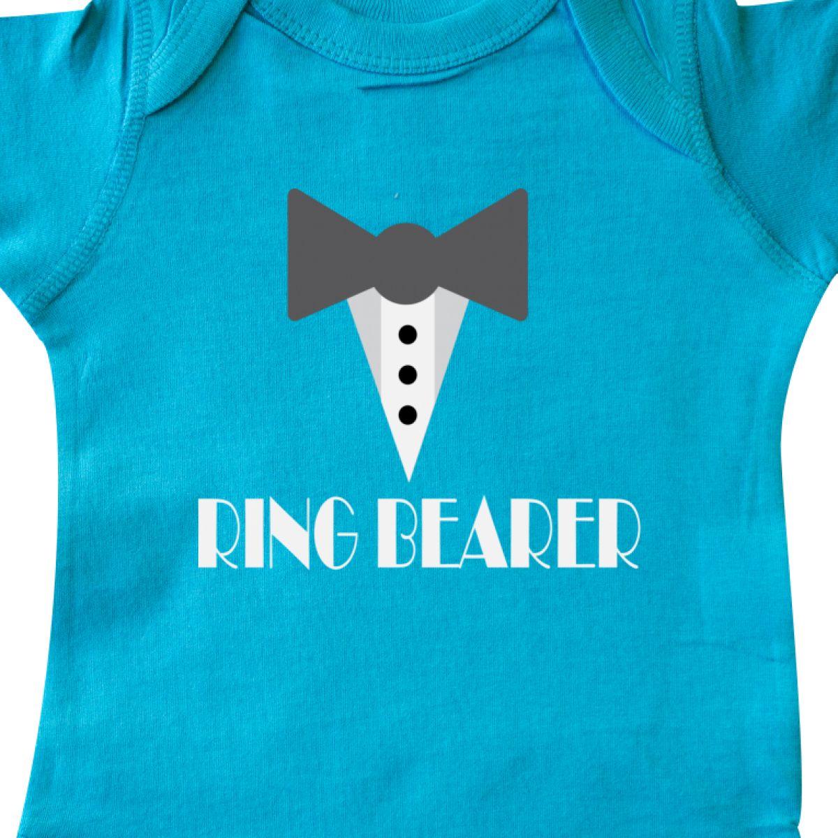 Inktastic Ring Bearer Mock Tux Tuxedo Infant Creeper Ringbearer ...