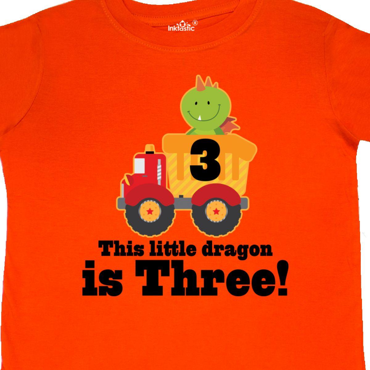 Inktastic Dragon 3rd Birthday Dump Truck Toddler T