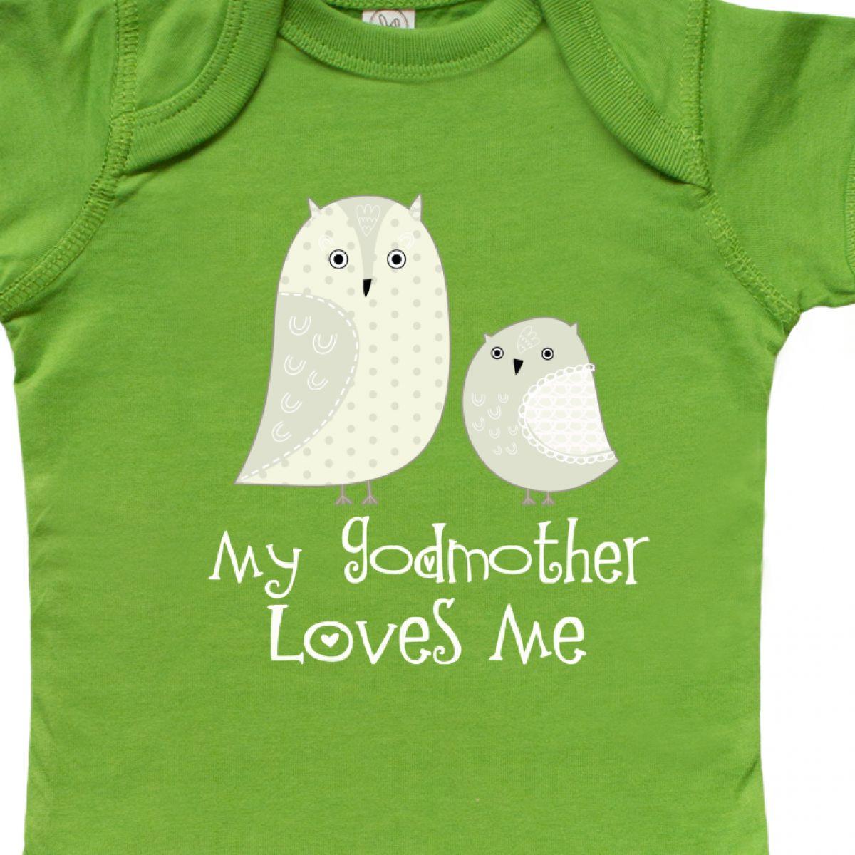 394694ef1 Inktastic My Godmother Loves Me Infant Creeper Godchild Godson ...