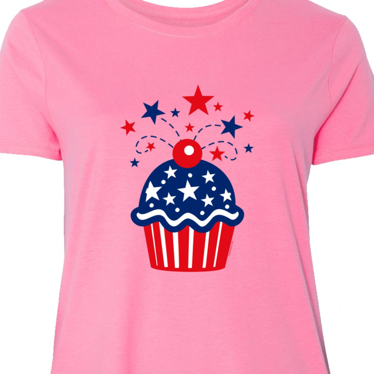 6dfbbfdd0ed Inktastic American Cupcake Women s Plus Size T-Shirt 4th Of July ...