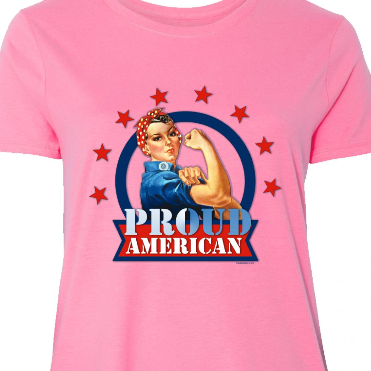 d2b7326e5 Inktastic Rosie Riveter Proud American Women's Plus Size T-Shirt 4th ...