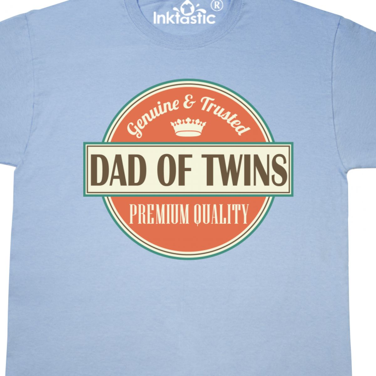 f9936394 Inktastic Dad Of Twins Vintage T-Shirt Gift New Fathers Day Having ...
