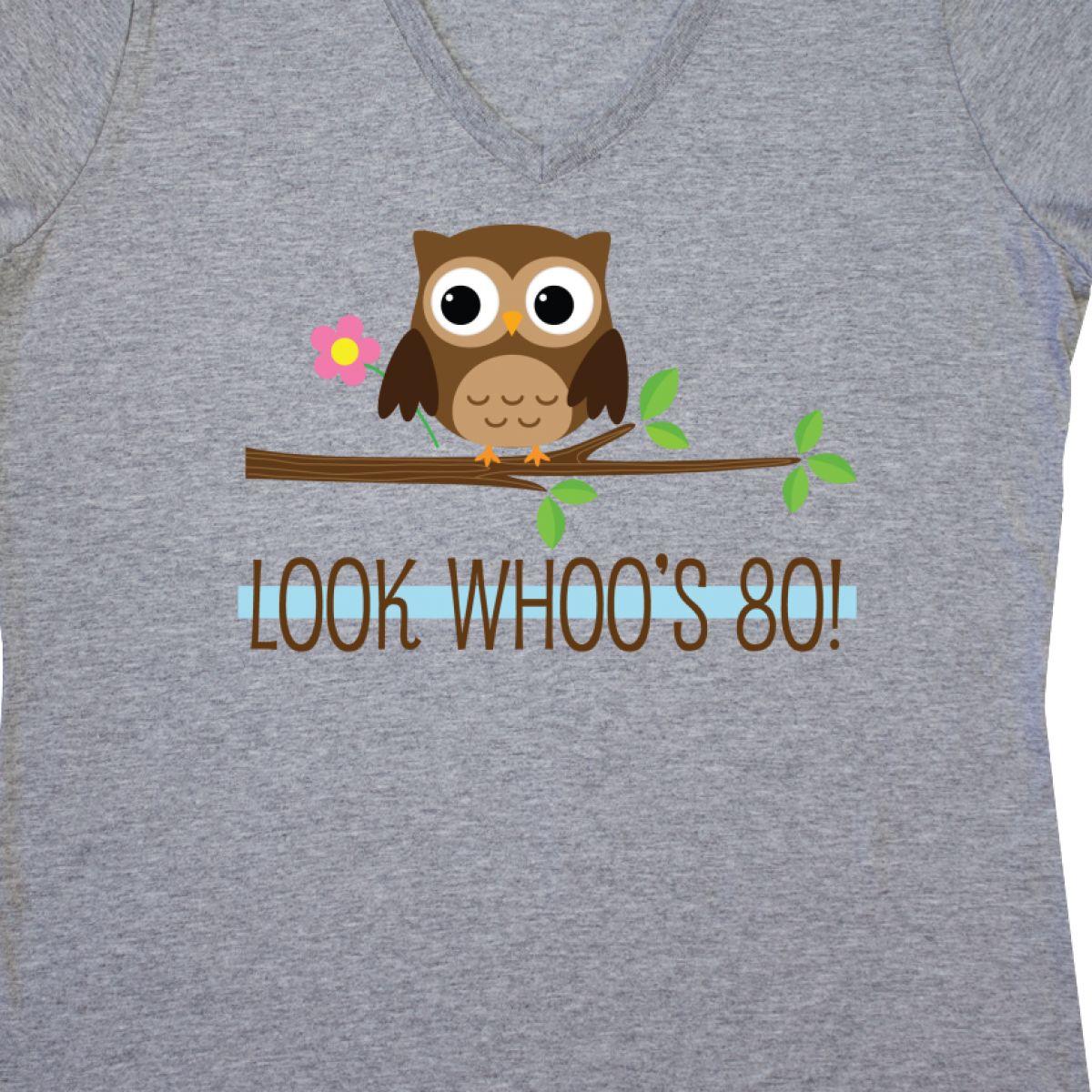 Inktastic 80th Birthday Look Whoos 80 Owl Women