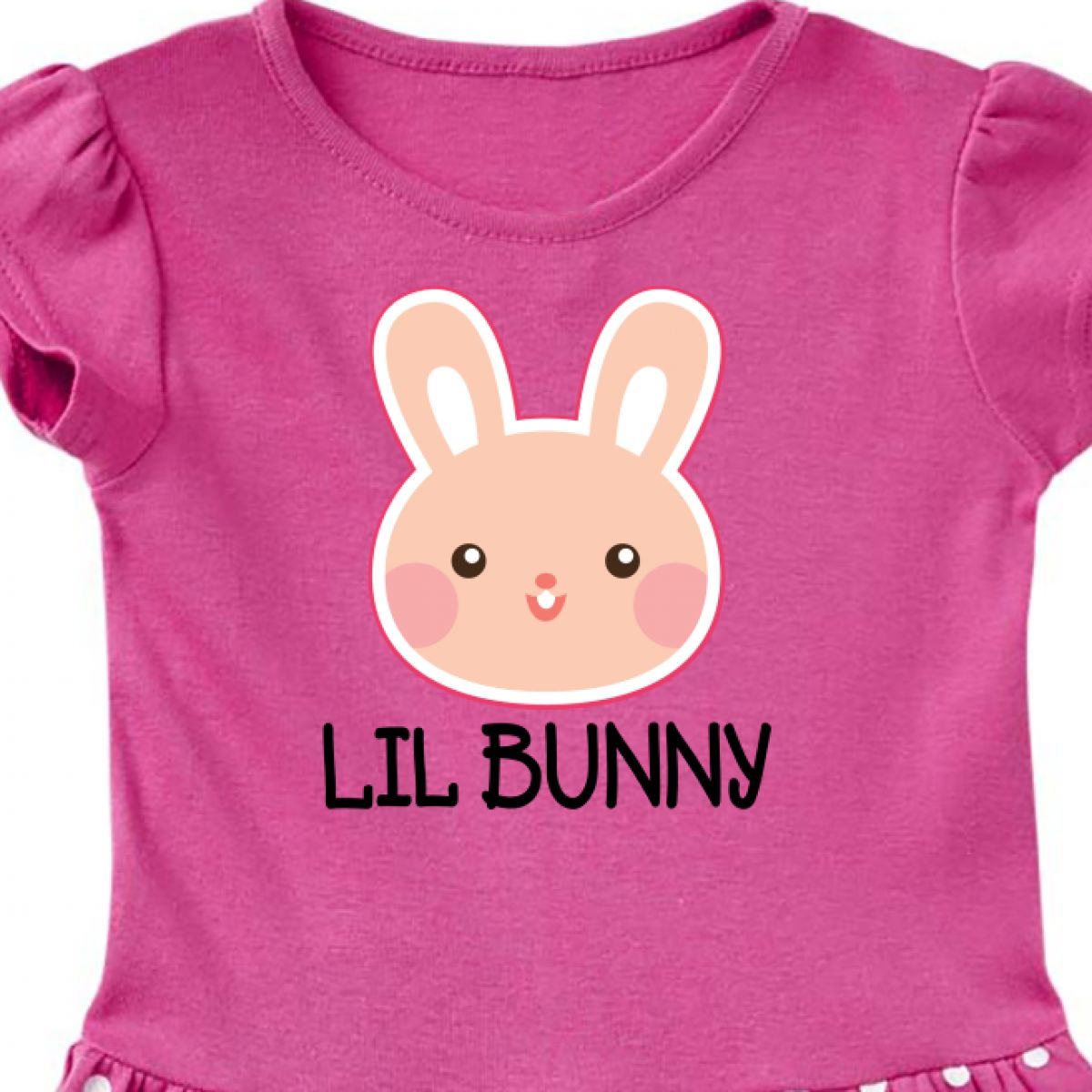 inktastic Easter Lil Bunny Girls Rabbit Toddler T-Shirt