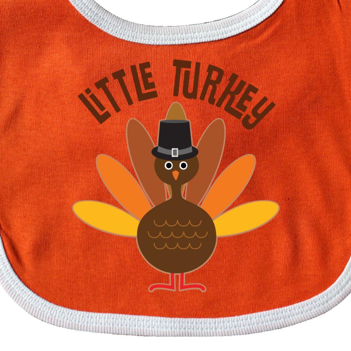 9b8fc8b55b4 Inktastic Little Turkey Thanksgiving Baby Bib Babys 1st First ...