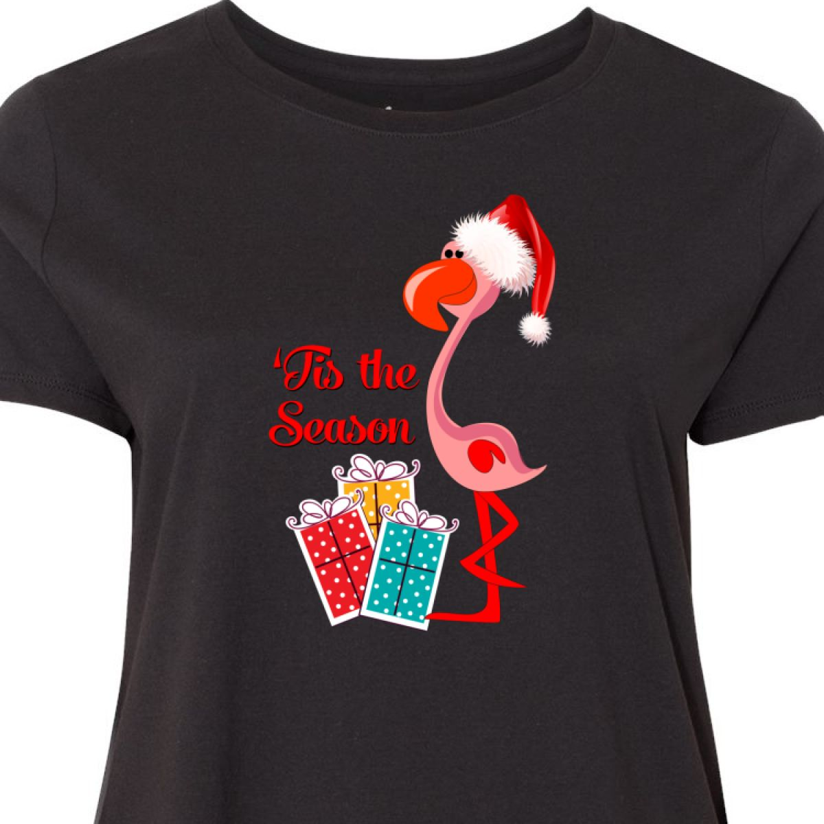 Christmas Tops Plus Size.Details About Inktastic Christmas Flamingo Women S Plus Size T Shirt Xmas Santa Merry Holiday