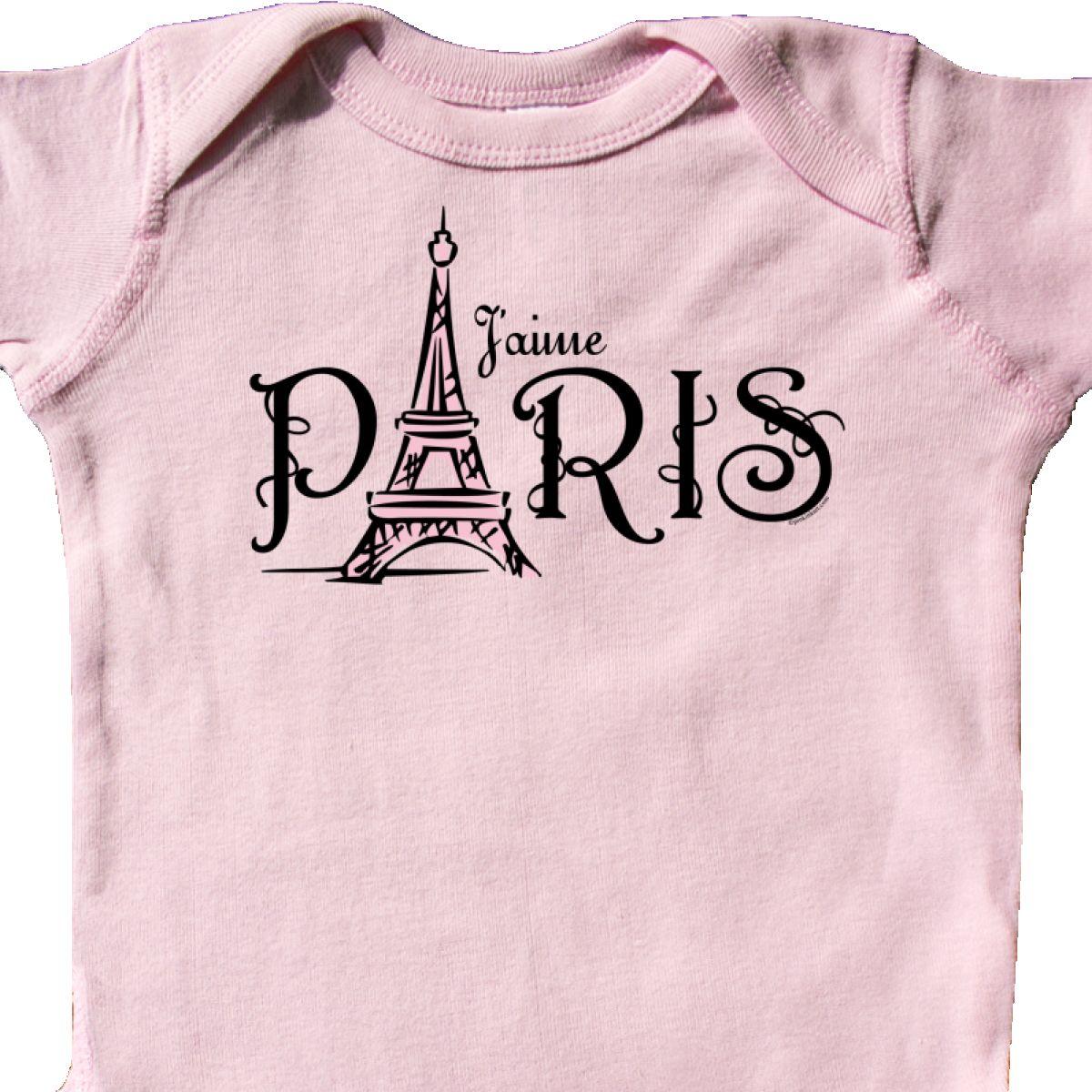 Inktastic J Aime Paris Infant Creeper I Love Heart Eiffel Tower