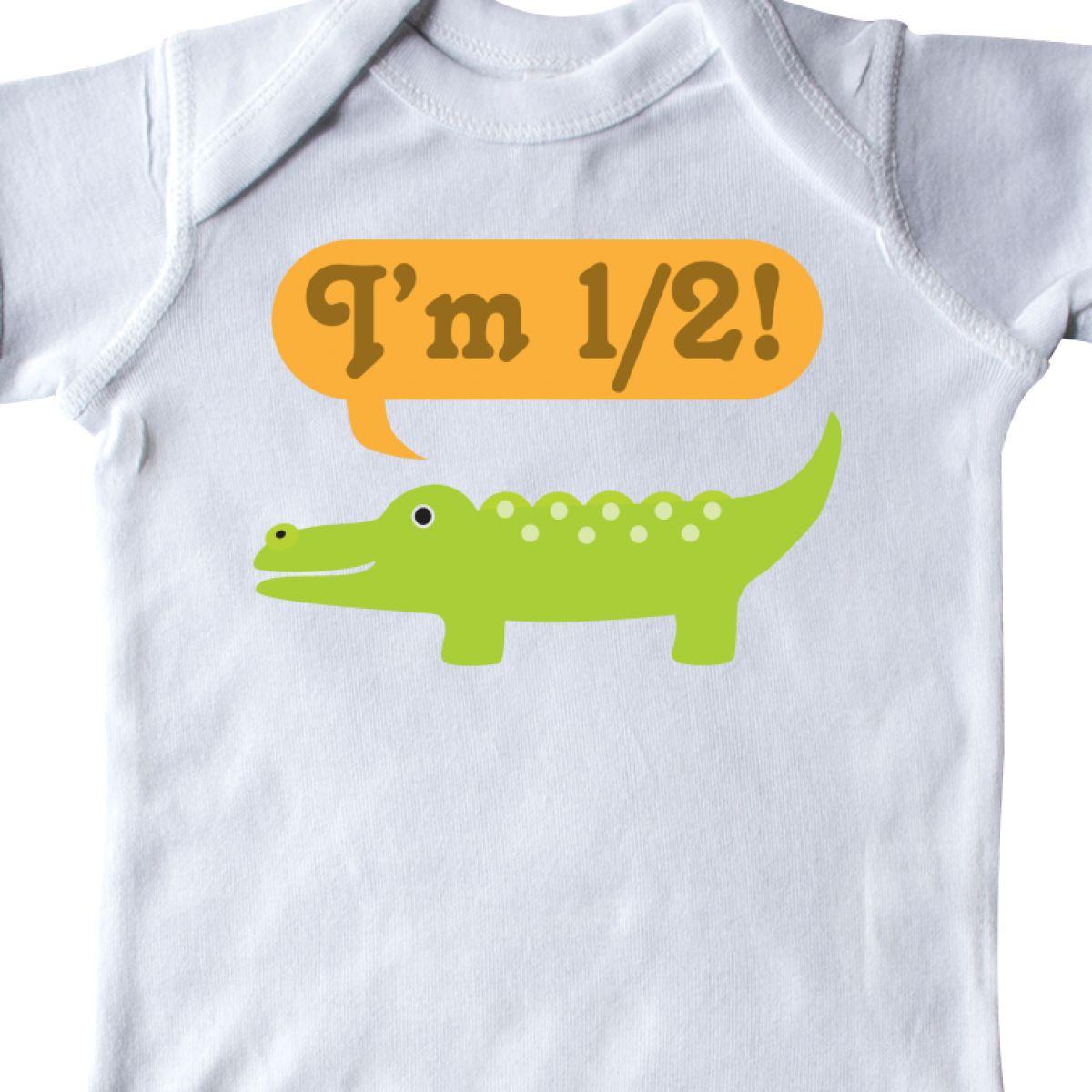 Inktastic Half Birthday 1 2 Boy Alligator Infant Bodysuit Outfit