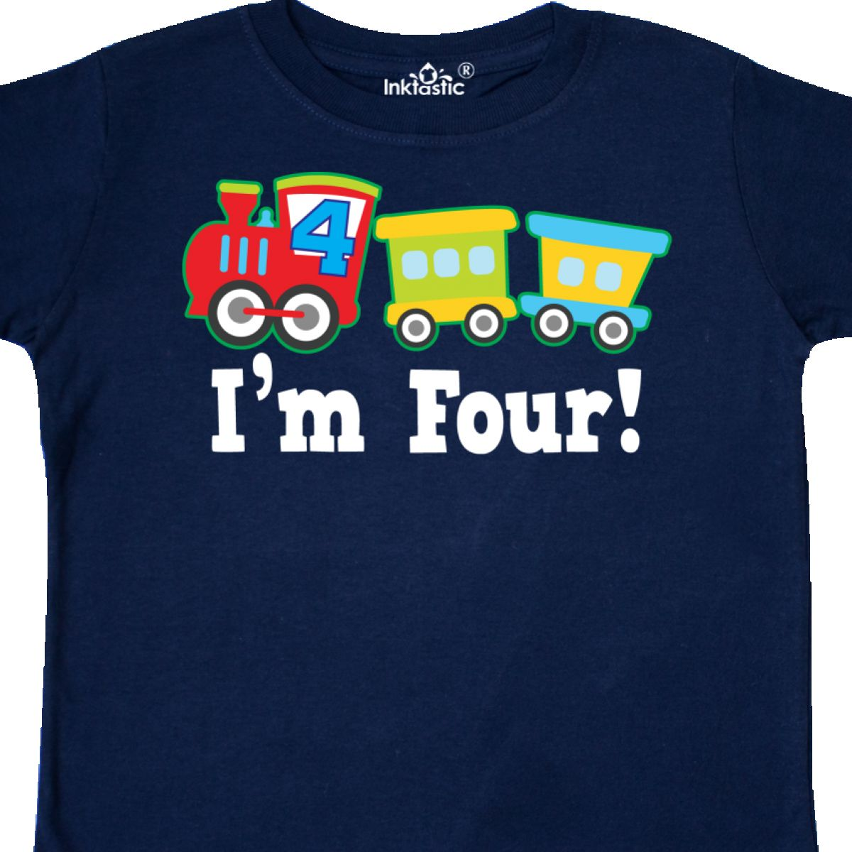 Inktastic 4th Birthday Train Outfit Toddler T Shirt