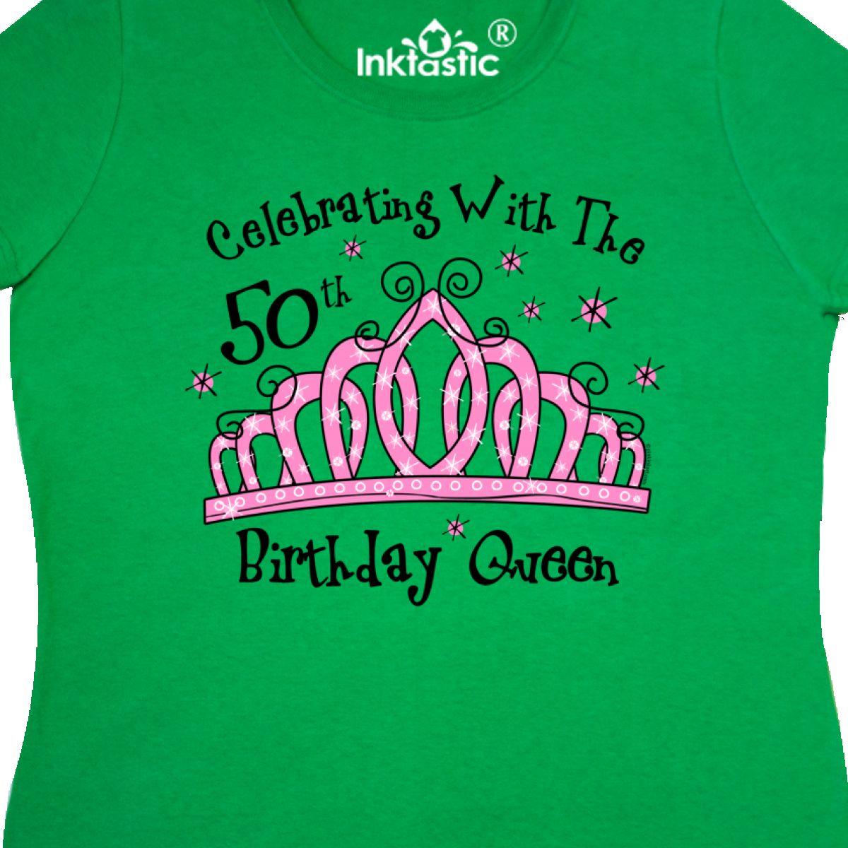 Inktastic Tiara 50th Birthday Queen CW Women's T-Shirt