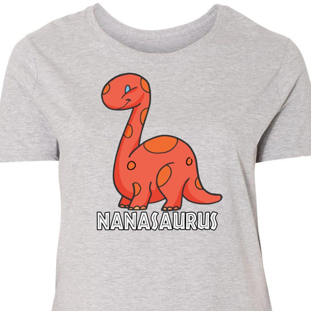 c7b342e9d4f Details about Inktastic Nanasaurus Women s Plus Size T-Shirt Grandmother  Nana Cute Dinosaur My
