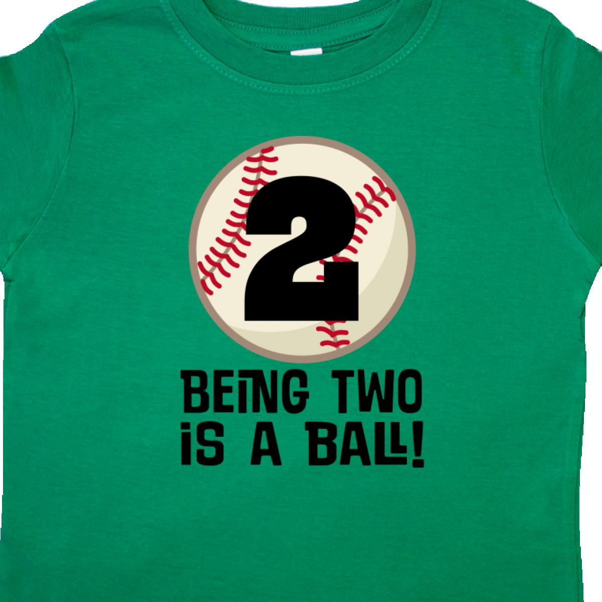 Inktastic 2nd Birthday Baseball 2 Year Old Boy Toddler T Shirt Two