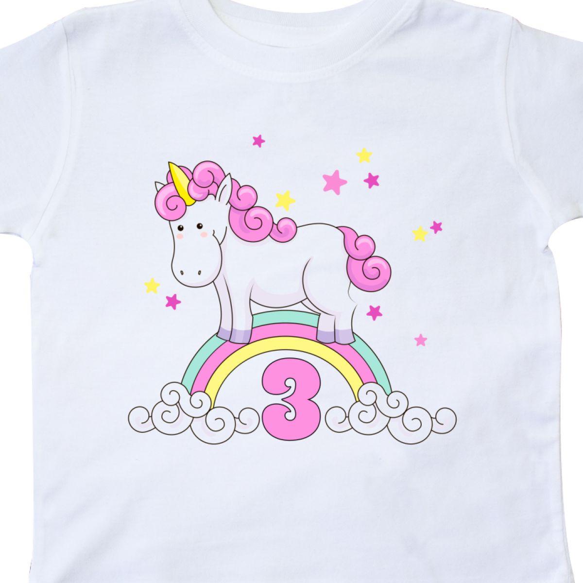 Inktastic Unicorn 3rd Birthday Toddler T Shirt Cute