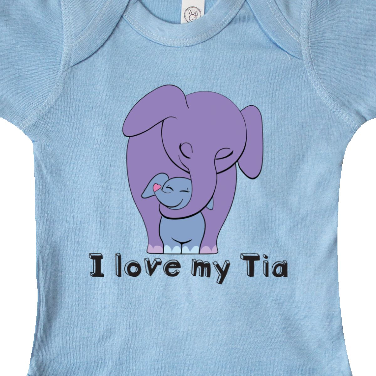 Inktastic I Love My Tia Elephant Purple Blue Infant Bodysuit Aunt