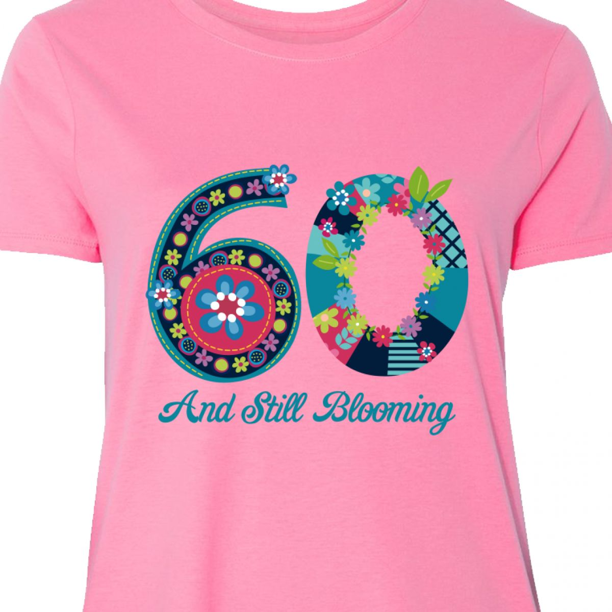 7dac723646d Details about Inktastic Blooming 60th Birthday Women s Plus Size T-Shirt  Flower Whimsical Just