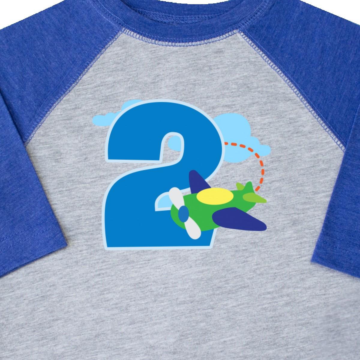 58684c2ba Inktastic 2nd Birthday Airplane Boys 2 Year Old Toddler T-Shirt ...