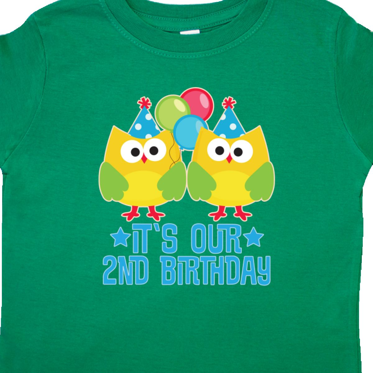 Inktastic 2nd Birthday Twins Party Photo Toddler T-Shirt